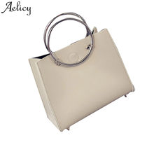 d79bc36f03c0 (Ship from US) Aelicy Women Shoulder Bag   Fashion Leather Hoop Ladies  Handbag +Clutch Bag bolsa feminina dropship new 2018 hot Sale sac a main