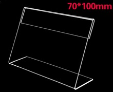 20Pieces/Lot 70x100mm L-Shaped Transparent Clear Acrylic Price Tag Sign Plastic Plexiglass Table Stand все цены