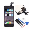 Black Full Assembly LCD For iPhone 5S LCD Display Touch Screen Digitizer+Frame+Home Button Flex Cable+Front Camera+Tools
