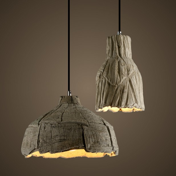 Loft Style Industrial Vintage Pendant Light Fixtures For Dining Room LED Hanging Lamp Home Lighting Alien Cement Droplight loft style industrial vintage pendant light fixtures for dining room led hanging lamp home lighting art cement droplight