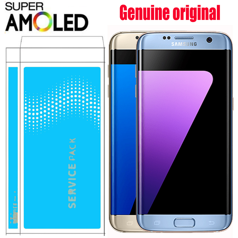 ORIGINAL 5 5 Display with Burn Shadow LCD with Frame for SAMSUNG Galaxy S7 edge G935