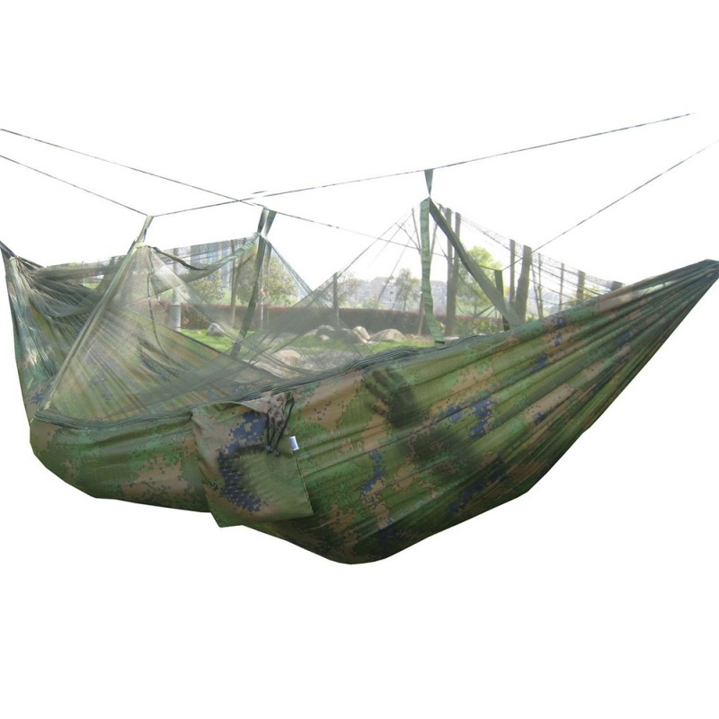 Camping & Hiking Honey 260*130cm 100% Nylon Outdoors Camping Climbing Hammocks 2-person Capacity 3 Season Sleeping Hammocks Outdoor Sports Accessories Sufficient Supply Camp Sleeping Gear