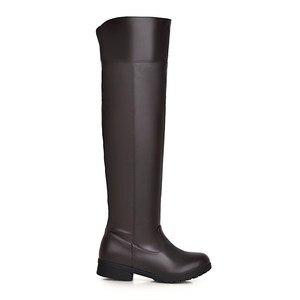 Image 5 - Botas de neve de inverno mulheres moda joelho alto botas para mulheres casual plataforma de salto baixo senhoras sapatos longos calçados de inverno senhora