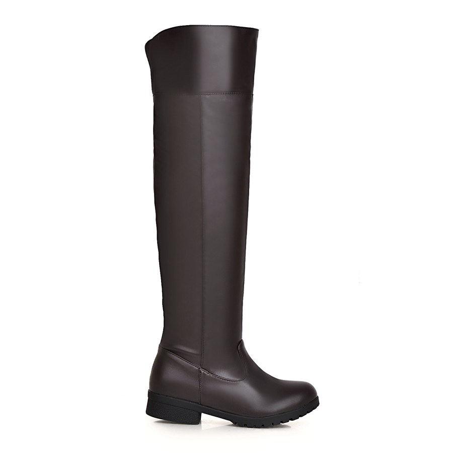 Image 5 - Plus size 48 Snow Boots Women Fashion Knee High Boots For Women Casual Platform Low Heels Ladies Long Shoes winter footwearKnee-High Boots   -