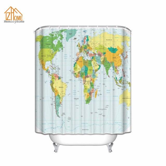 Geheugen Home Wereld Kaart Print Educatief Geografische Aarde in ...