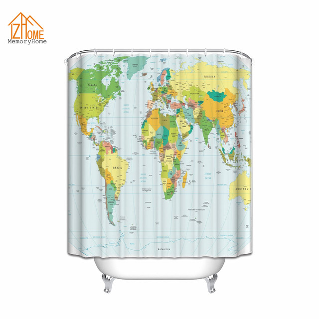 Memory home world map print educational geographical earth in my memory home world map print educational geographical earth in my bathroom ocean novelty home decor fabric gumiabroncs Image collections