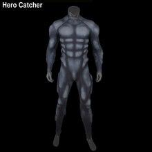 Герой catcher-4 черные туфли высокого качества Мышцы костюм пены обивка внутри Muslce костюм