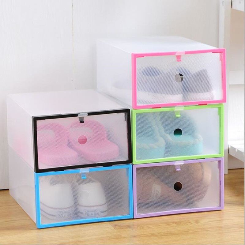 Multifunctional Storage box Transparent Plastic Stackable Storage Case Sundries Container  Home Use Shoebox