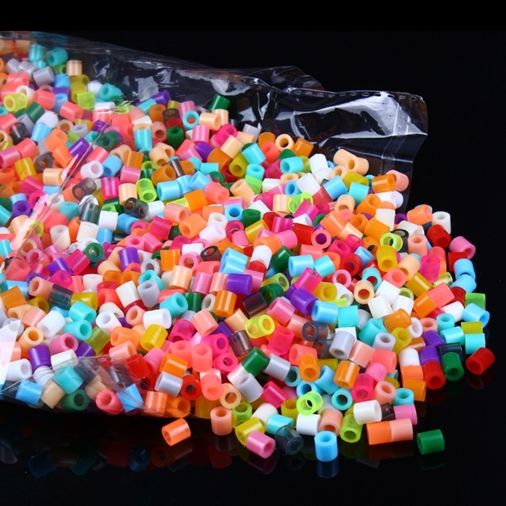 1000pcs/pack 2.6MM Colorful HIGHGRADE Hama Beads Perler Beads Hama Fuse Beads Kids Toys Educational Diy Craft Color Remarks