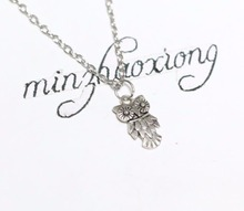 New Fashion Jewelry Vintage Silver Deco Owl Charms Animal Pendant Collars Statement Necklace Women Gift