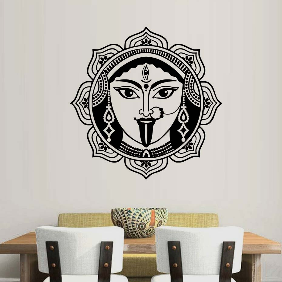 Indian Mural Art Shiva Wall Stickers Home Decor Living Room High Quality Removable Vinyl Decoration Hinduism God Wall Decals
