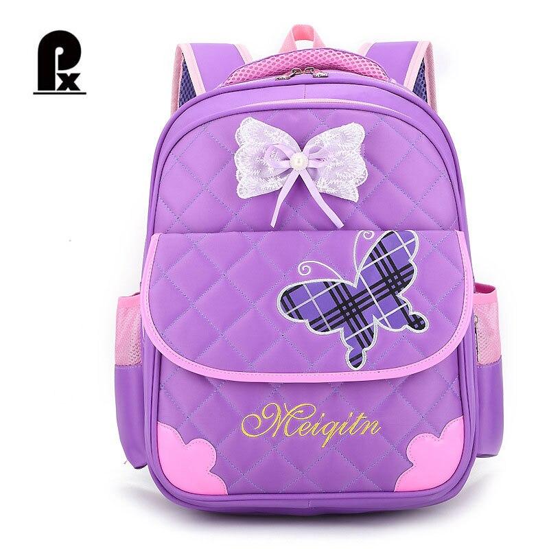 Новые модные детские школьный рюкзак ортопедический бабочка Рюкзаки ученик принцессы Школьные ранцы для Обувь для девочек Mochila Infantil