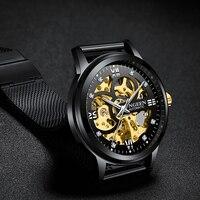 Часы со скелетом, новинка 2019, спортивные механические часы FNGEEN, роскошные часы, мужские часы от ведущего бренда Montre Homme, Мужские автоматическ...