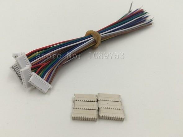 ≧Micro JST 1,0mm 10-poligen stecker mit Draht 10 sätze - a480