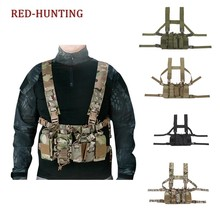 Easy Chest Rig Vest Tactical Combat Vest with AK Series Magazine Pouch Airsoft Hunting Paintball Vest Multicam(China)