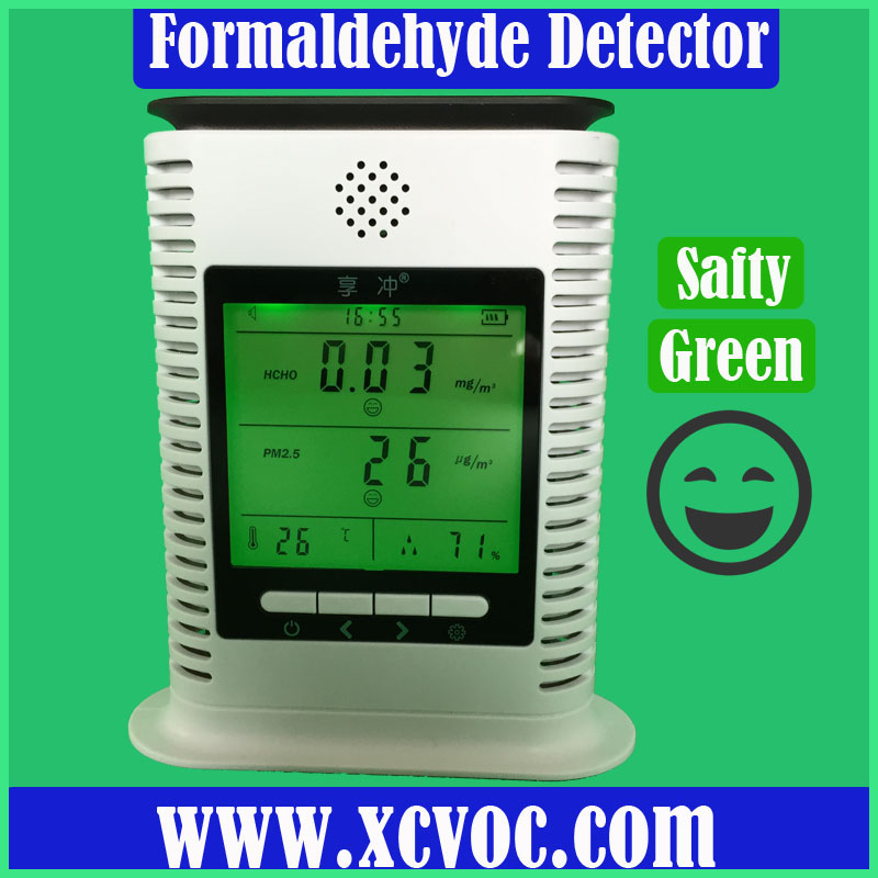 Household PM2.5 Air Quality Monitor Dust Detector Formaldehyde Detector Detector Fog Monitoring of Temperature and Humidity