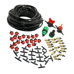 1 Set  DIY Automatic Spray Kit Copper Nozzle 1/4 ' Hose Dripper 1/4 ' Tee Quick Connector Automatic Plant Waterer Mist Maker