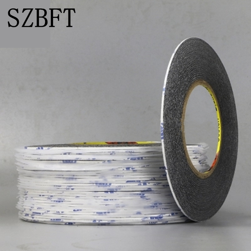 SZBFT 1MM Black Brand New 3M Sticker Double Side Adhesive Tape Fix For Cellphone Touch Screen LCD free shipping