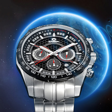 2016 CASIMA highest quality solar watch multifunction watches men fashion casual sports watch stainless steel waterproof 100m