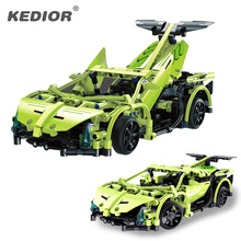 RC Track High Speed Remote Control Race Car Machine Radio Controlled Cars Model Building Blocks Toys