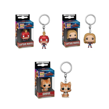 Funko POP Keychain  Captain marvel GOOSE PVC Action Figure Collectible Model toys for chlid