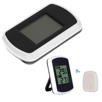 실내 및 실외 전자 온도 센서와 lcd 디지털 무선 온도계 주변 날씨 가정용 온도계
