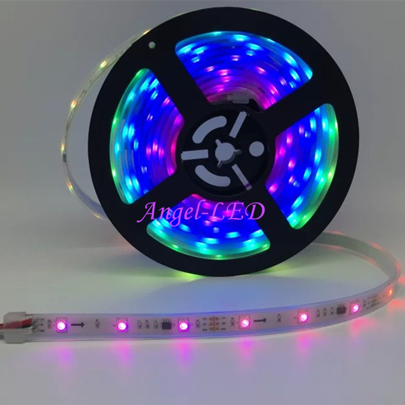 Best Price 5m/roll DC12V Ws2811 5050 SMD RGB Dream Addressable Digital 1 Ic Control 3 Led External Ic Ws2811 Led Pixels Strip
