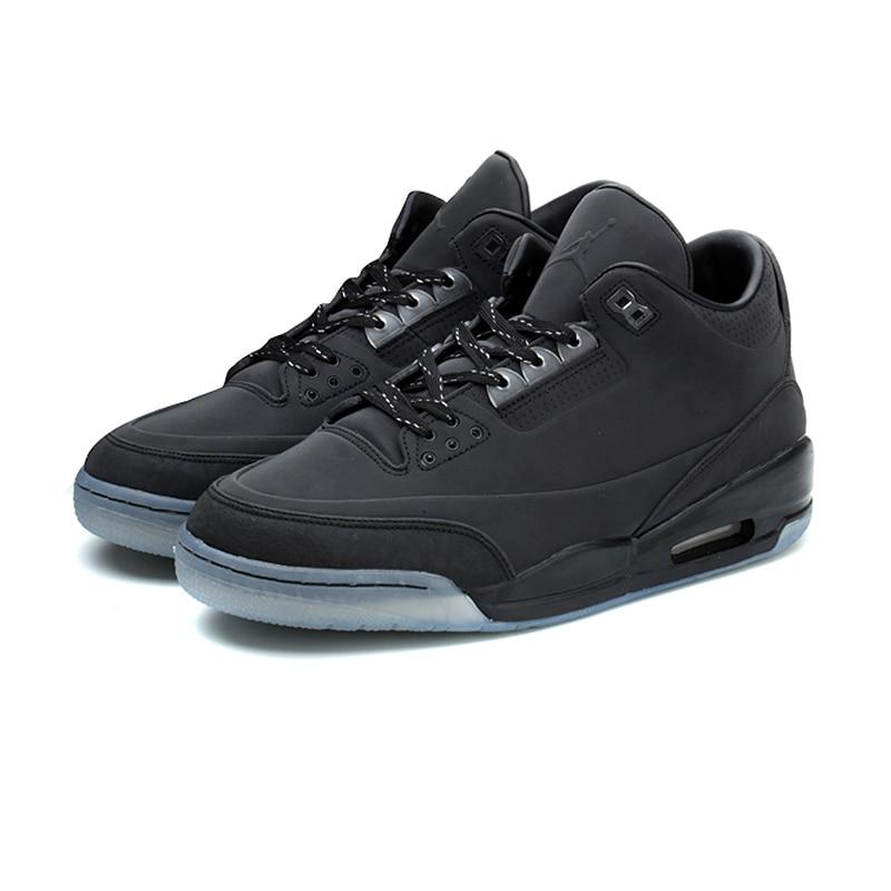 Nike Air Jordan AJ3 5Lab3 Black Joe 3 All Black Reflective Men s Basketball  Shoes Sports Shoes 5e7311bcfda0