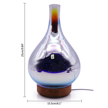 Humidificateur d air en forme de Vase en verre de feux d artifice 3D avec LED