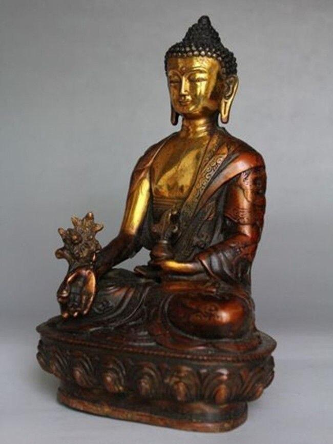 티베트 황동 불교 보살 sakyamuni 불상-에서동상 & 조각품부터 홈 & 가든 의  그룹 2