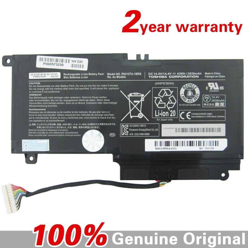 ФОТО Genuine original L500 Laptop battery for Toshiba Satellite L55t L50 S55 P55 L50-A P50 PA5107U-1BRS 14.4V 43WH 2838mah Batteries