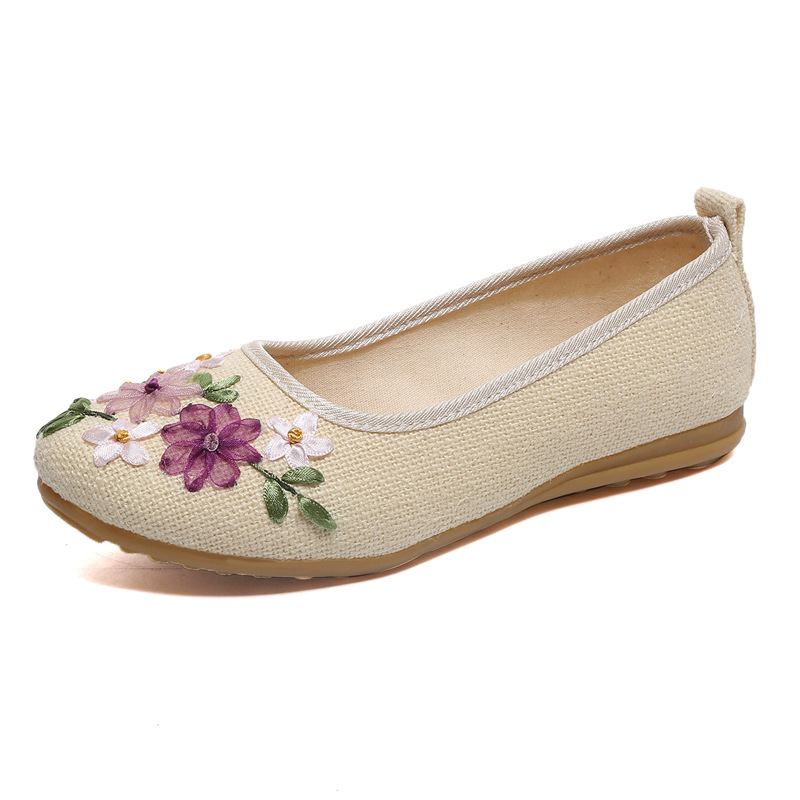 dd68b50d6e3e8 2019 Yeni Kadın Ayakkabı Çiçek Işlemeli Loafer'lar Kadın Flats Rahat Kadın  rahat ayakkabılar Oxford
