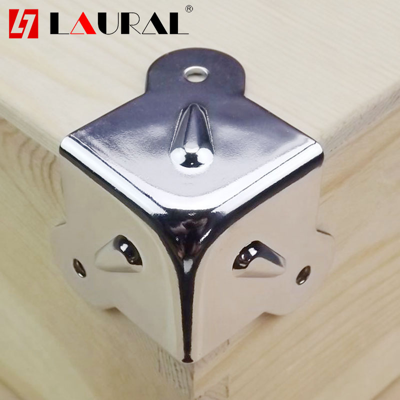Speaker Wooden Box Air Box Audio Hardware Woodworking Three Bread Corner Angle Corner Iron Fixed Hardware Accessories