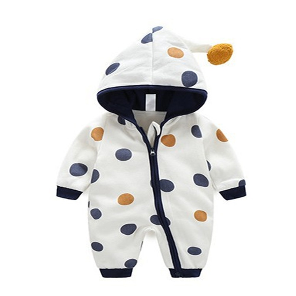 Boy Clothes Cotton Zipper Baby Rompers Winter Thick Warm Long Sleeve Hooded Jumpsuit Kids Zipper Outfit Infant Outwear Clothing newborn infant warm baby boy girl clothes cotton long sleeve hooded romper jumpsuit one pieces outfit tracksuit 0 24m