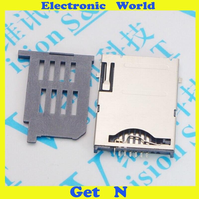 20pcs High Quality Self Push SIM Card 6+1p 7pins Mobile Phone 7P SIM Jack Connector