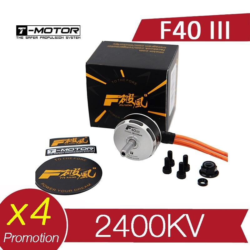4PCS T Motor T Motor F40 III 2400KV Brushless Motor RC Drone FPV Racing Multi Rotor
