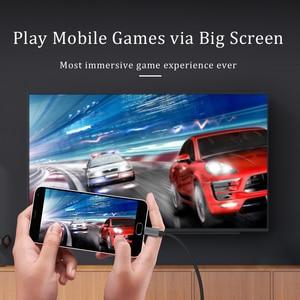 Image 5 - CHOSEAL Type C vers câble HDMI 4K @ 60Hz USB C câble HDMI Thunderbolt 3 pour MacBook Samsung Galaxy S10/S9 Huawei Mate 20 P20 Pro