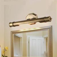 Hotelzimmer up LED wandleuchten ankleideraum Retro verfeinert H65 kupfer Bad spiegel Licht E14 wasserdicht Spiegel Led Arandela