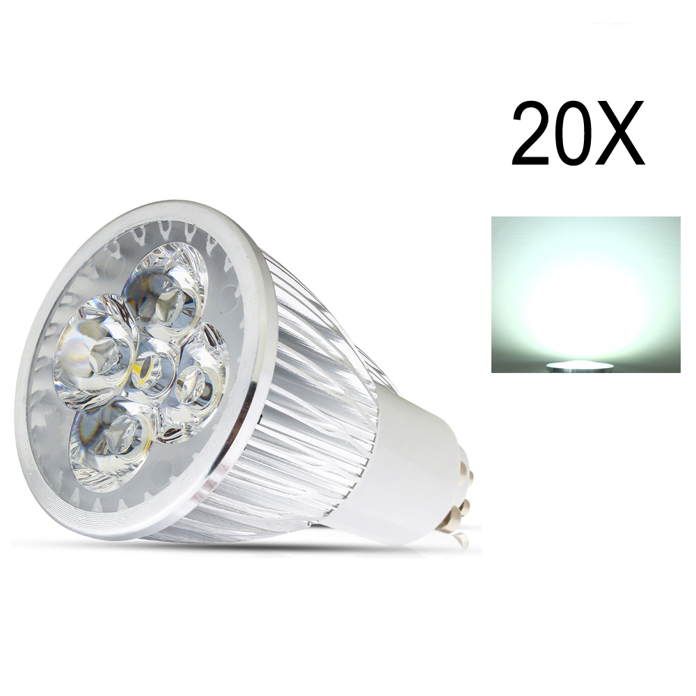 20X AC85-265V GU10 Dimmable LED Bulb LED4W Spot Light Led Spotlights Warm/Cool White GU10  lamp High brightness Spot light lamp high quality 9w epistar led spot bulb e27 base par38 led light 900lm white ac85 265v ce