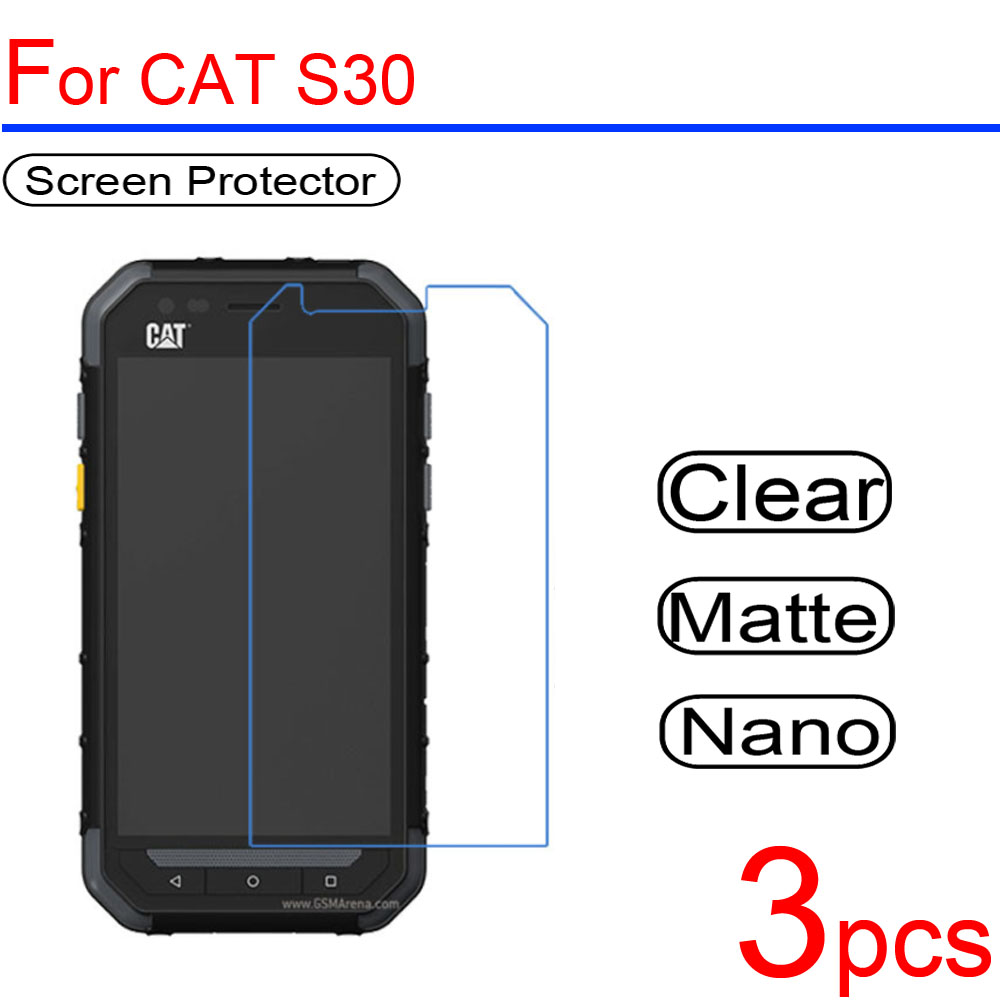 3pcs ultra clear Soft LCD Screen Protectors film guard Cover For <font><b>CAT</b></font> S30 S40 S50 S60 S31 S41 <font><b>S61</b></font> B15 B25 B30 Protective Film image