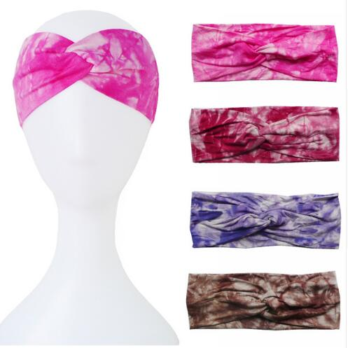 b33e3926ed5 Detail Feedback Questions about 10pcs New Tie Dye Printing Twist Stretch  Elastic Women Headband Hair Accessories Turban Top Bandage Hair Band Bandana  on ...