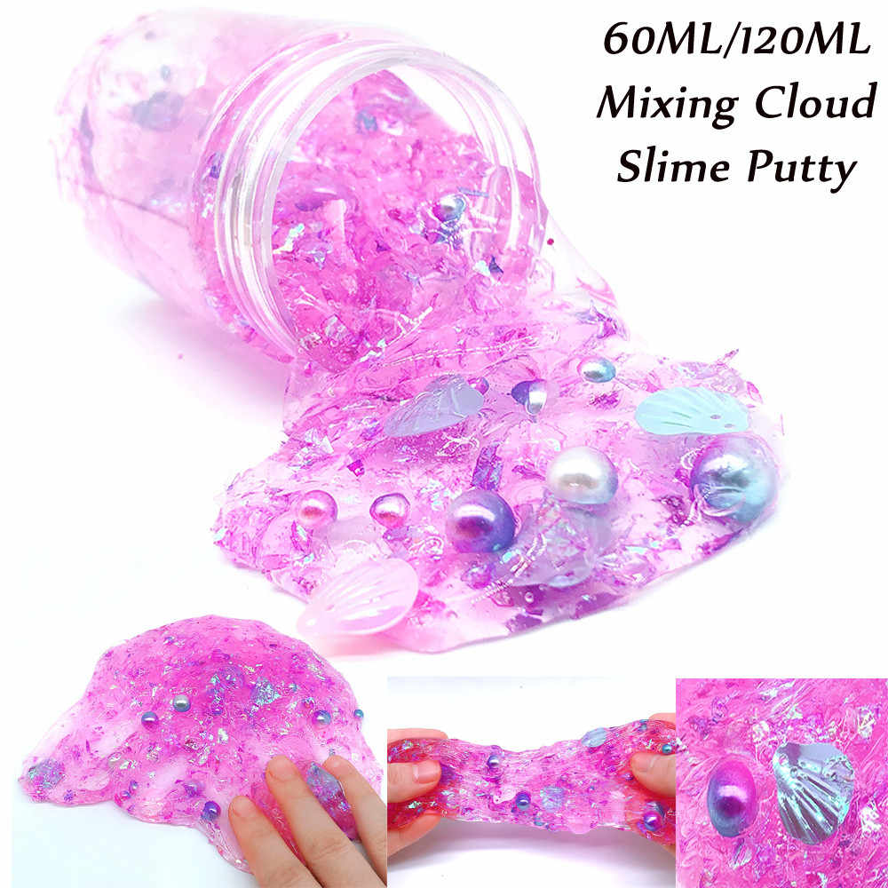 MUQGEW poopsie slime surprise Purple Shell Colorful Mud Mixing Cloud Slime Putty Scented Stress Kids Clay Toy smooshy mushy #y2