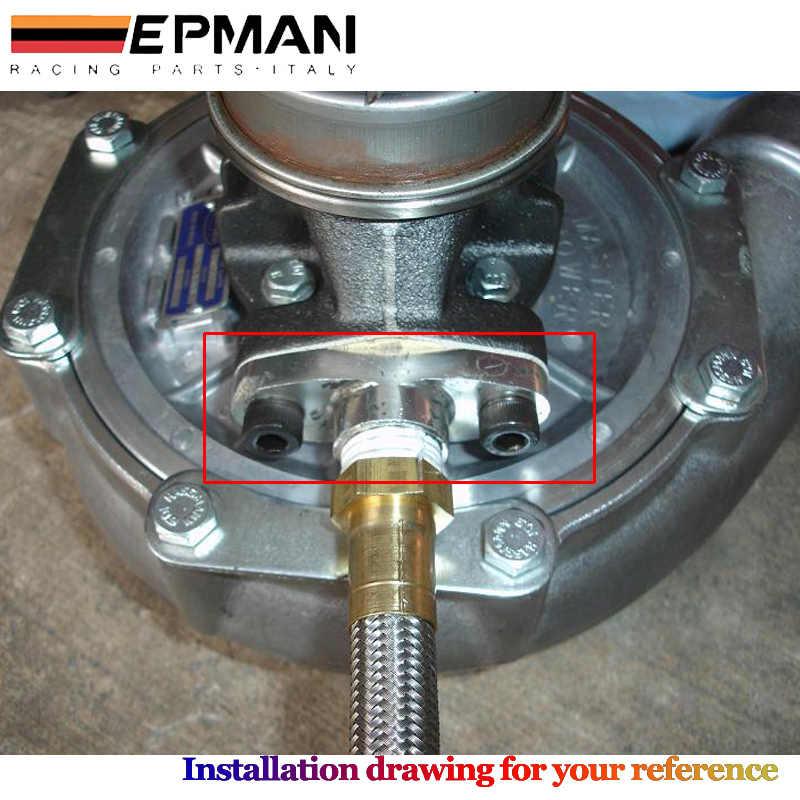 Billet Turbo do spuszczania oleju kołnierz powrotny 10AN Garrett GT28 GT30 GT35 M8 otwór EP-TF008