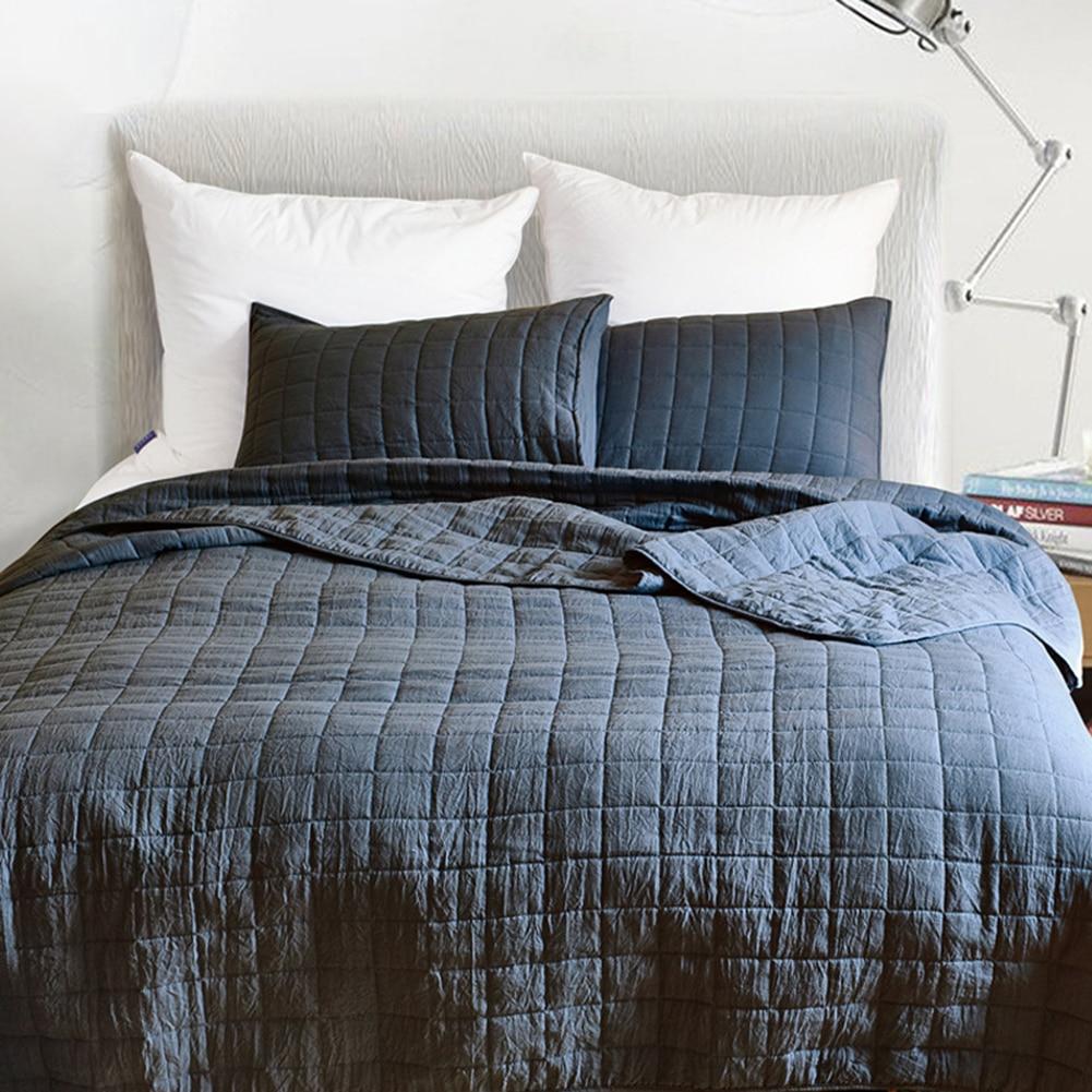 Enipate 3 ピース高級ベッドカバーキルティングセット格子ベッドカバーダブル軽量夏キルトブランケット米国女王王  グループ上の ホーム&ガーデン からの 寝具セット の中 2