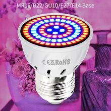 E27 LED 220V Plant Light GU10 LED Lamp For Plants Seedling E14 Fitolamp MR16 Full Spectrum LED Grow Light Bulb B22 Phyto Lamp