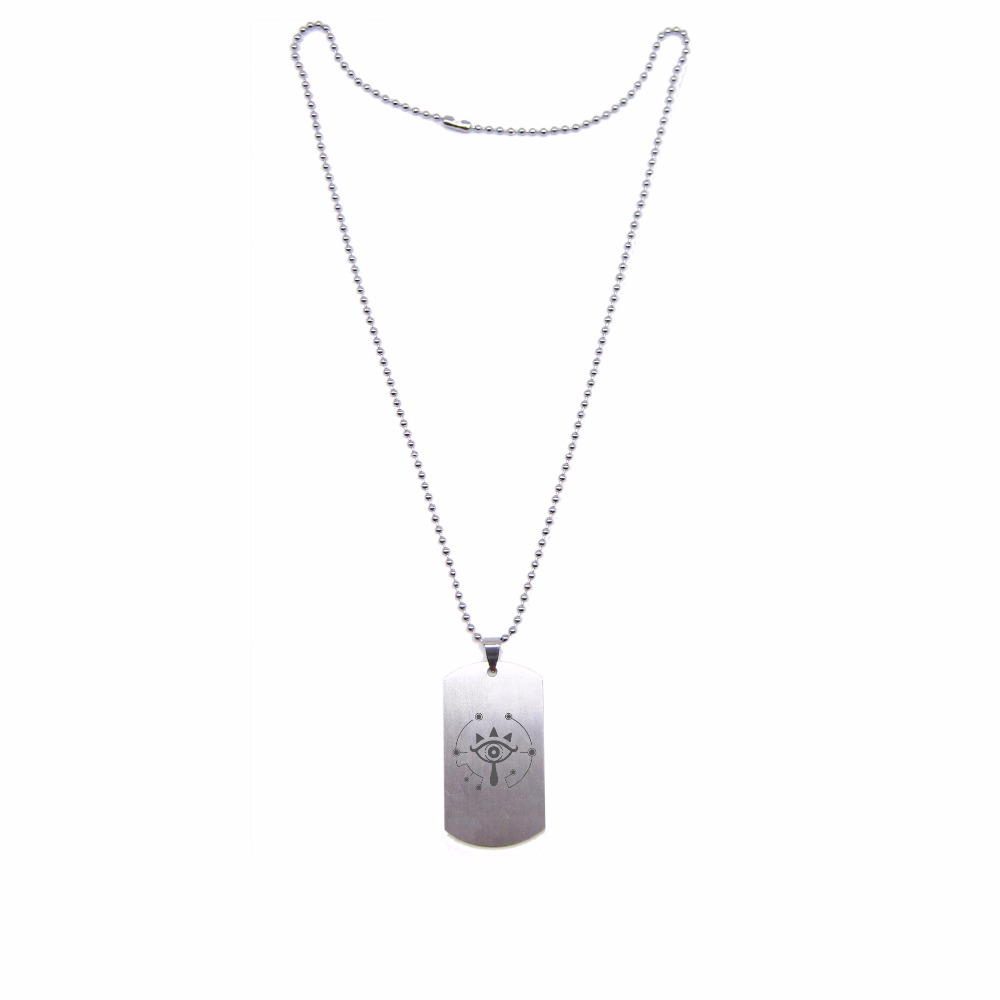 New Game Legend of Zelda:Breath of the Wild Sheikah Symbol Necklace Stainless Steel Pendant Fashion Jewelry for Women Men fans
