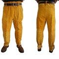 Calças Cowleather Calças Compridas Equipamentos de Proteção para Soldadores soldagem Livre Tamanho Grande 110301