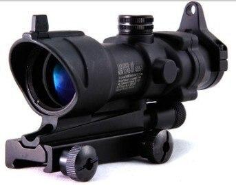 4x32 B Tactical ACOG Clone Red Illuminated CrossHair Rifle Scope метчики 1 4 32