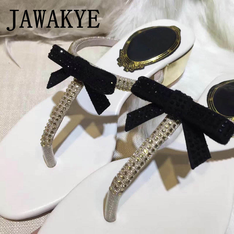 71ebc07652c ... Sandals JAWAKYE Summer Women Shoes Flat Shoes Sandalias Woman mujer  heels Low Bowtie Ladies Fashion Flats ...