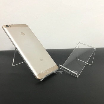 5pcs/lot Clear Acrylic Cell Phone Display Stand Jewelry Easel Holder 40pcs lot 15cm acrylic security ipad stand tablet display holder round clear base for apple samsung shop